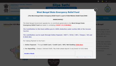 What Silpasathi.in website looked like in 2020 (1 year ago)