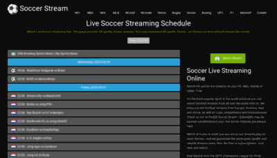 What Soccerstream.me website looked like in 2020 (1 year ago)