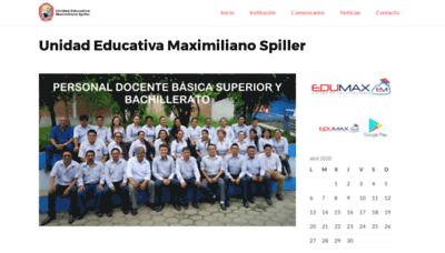 What Spiller.edu.ec website looked like in 2020 (1 year ago)