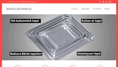 What Senkallarambalaj.com.tr website looked like in 2020 (This year)