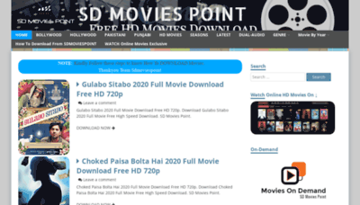 What Sdmoviespoint.club website looked like in 2020 (This year)