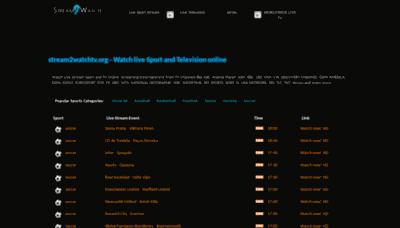 What Stream2watchtv.org website looked like in 2020 (1 year ago)