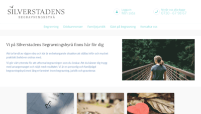What Silverstadens.se website looked like in 2020 (This year)