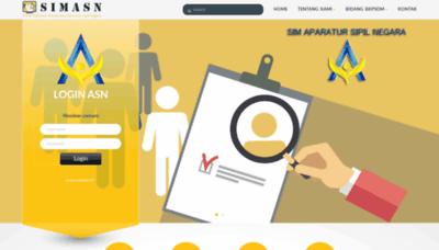 What Simasn.karanganyarkab.go.id website looked like in 2020 (1 year ago)