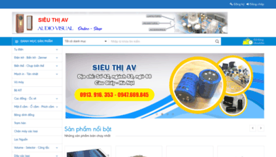 What Sieuthiav.net website looked like in 2020 (This year)