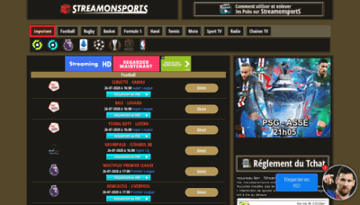 What Streamonsport.club website looked like in 2020 (1 year ago)