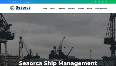 What Seaorca.in website looked like in 2020 (1 year ago)