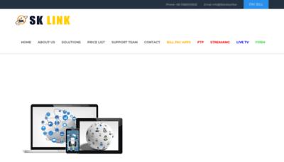 What Sklinkbd.net website looked like in 2020 (1 year ago)