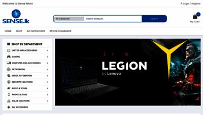 What Sense.lk website looked like in 2020 (1 year ago)