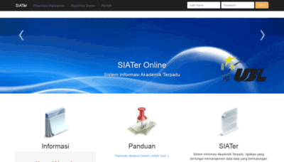 What Siater.ubl.ac.id website looked like in 2020 (This year)