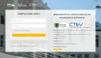 What Sima.unicartagena.edu.co website looked like in 2020 (This year)