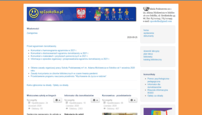 What Sp1sokolka.pl website looked like in 2020 (This year)