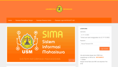 What Sima.usm.ac.id website looked like in 2020 (This year)