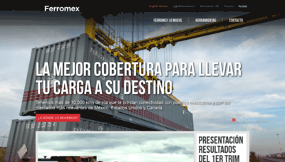 What Sicop.ferromex.com.mx website looked like in 2020 (This year)