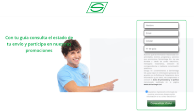What Servientrega.live website looked like in 2020 (This year)