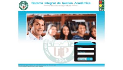 What Siga.utpuebla.edu.mx website looked like in 2020 (This year)