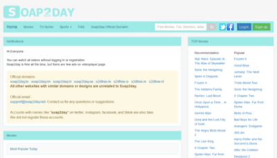 What Soap2day.cc website looked like in 2020 (This year)