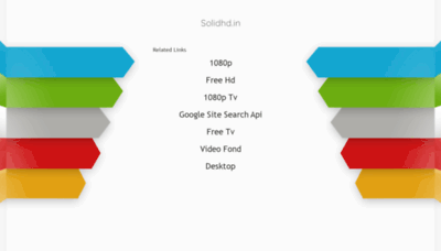 What Solidhd.in website looked like in 2020 (This year)