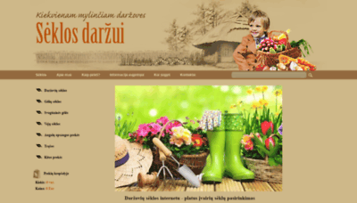 What Seklosdarzui.lt website looked like in 2020 (This year)