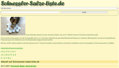 What Schuessler-salze-liste.de website looked like in 2020 (This year)