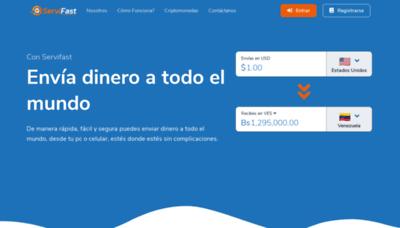 What Servifast.net website looks like in 2021