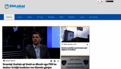 What Shkabaj.net website looks like in 2021