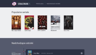What Serialeonline.pl website looks like in 2021