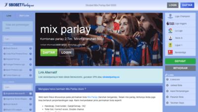 What Sbobetparlay.co website looks like in 2021