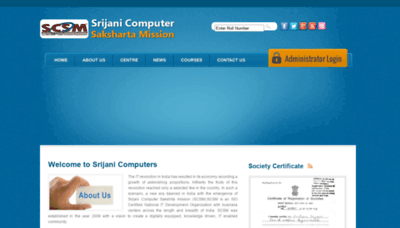 What Scsmindia.org website looks like in 2021