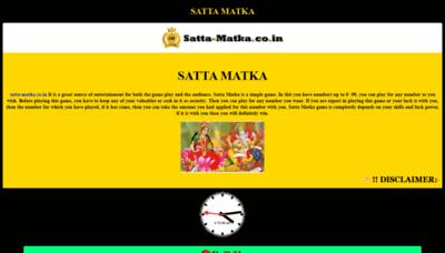 What Satta-matka.co.in website looks like in 2021