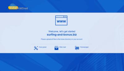 What Surfing-and-bonus.biz website looks like in 2021