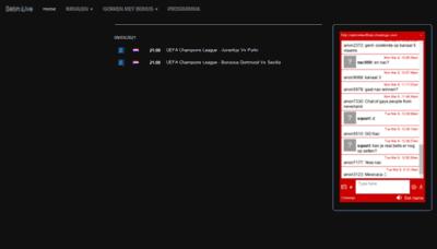What Sebn.live website looks like in 2021