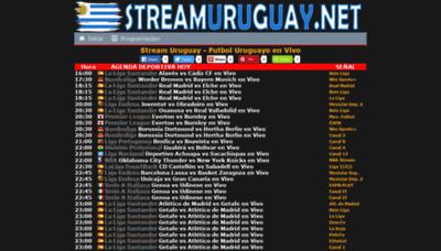 What Streamuruguay.net website looks like in 2021