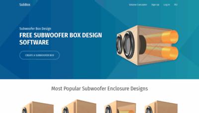What Subbox.pro website looks like in 2021