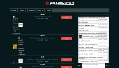 What Streamonsports.cc website looks like in 2021