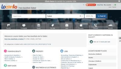 What Sialkot.locanto.com.pk website looks like in 2021