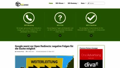 What Seo-suedwest.de website looks like in 2021