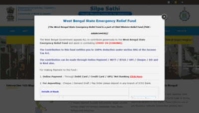 What Silpasathi.in website looks like in 2021