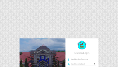 What Siakad.unpatti.ac.id website looks like in 2021