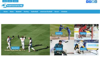 What Sportsstats.me website looks like in 2021