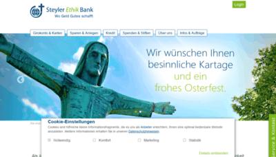 What Steyler-bank.de website looks like in 2021