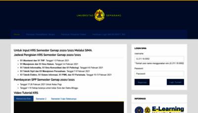 What Sima.usm.ac.id website looks like in 2021