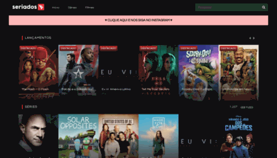 What Seriadostv.net website looks like in 2021