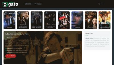 What Seriesgato.xyz website looks like in 2021