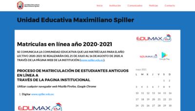 What Spiller.edu.ec website looks like in 2021