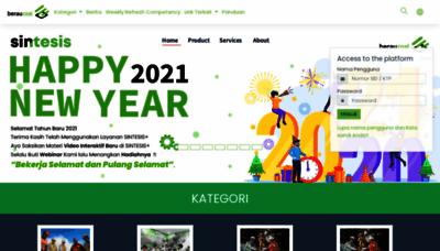 What Sintesis.beraucoal.co.id website looks like in 2021