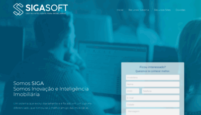 What Sigasoft.com.br website looks like in 2021