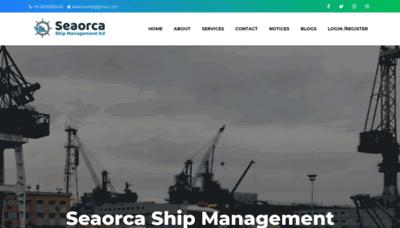 What Seaorca.in website looks like in 2021