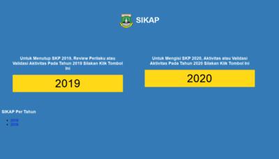 What Sikap.bantenprov.go.id website looks like in 2021