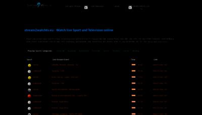 What Stream2watchtv.org website looks like in 2021